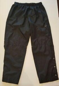 Nike Golf Rain Wind Pants Snap Button Bottom Size XL Black