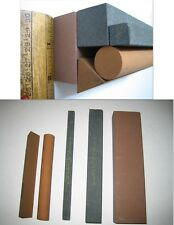 LARGE Machinist Stones Norton Carborundum India round square triangle benchstone