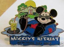 Disney WDW Cast Memorial Day Mickey Mouse Retreat Pin