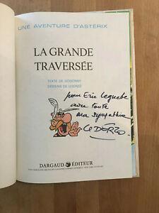 Uderzo - Dédicace dans un album d'Asterix - TBE