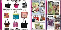 Simplicity Hats Totes & Bags Simplicity Sewing Patterns