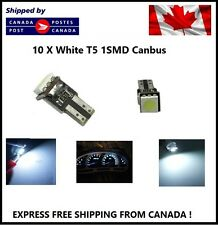 10X T5 Canbus WHITE Instrument Panel Cluster Dash Led Lights Bulbs 17 73 74