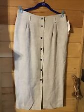 Jh Collections Nwt Button Up Skirt Natural Color Size 14 From Dillard's