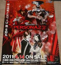 VERY RARE Persona 2 Innocent Sin Playstation Portable Promo Poster Atlus PSP RPG
