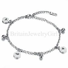 New Women's Stainless Steel Chain Anklet Bracelet Barefoot Charm Beach Jewelry