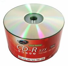 100 SKYTOR A GRADE Blank CD-R CDR Silver Shiny Top 52X 700MB Media Disc