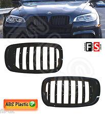 BMW E70/E71 X5/X6 LCI 2007-2013 FACE LIFT KIDNEY GRILLES-ABS-GLOSS BLACK OEM FI