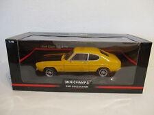 (Gol ) 1:18 MINICHAMPS Ford Capri Rs 1970 Yellow/Black New Boxed