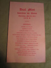 May 25, 1911 Dual Meet Hamilton vs. Union College Track & Field