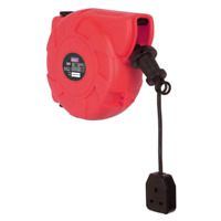 Sealey CRM101 10m Compact 240v Wall Mounted Retracting Extension Power Lead Reel