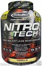 MUSCLETECH NITRO TECH PERFORMANCE SERIES PROTEIN WHEY 4 LBS -VANILLA- NITROTECH