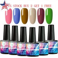 MTSSII 6Bottles 8ml UV Gel Nail Polish Set Soak off Pure Color Varnish Manicure