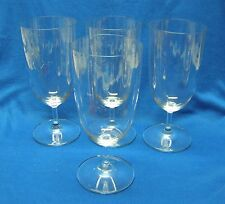 4 Wedgwood Martha Stewart Crystal Grace Pattern Iced Tea Glasses Goblets