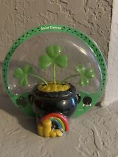 NEW Super CUTE St. Patrick's Day Pot of Gold with Shamrocks Solar Dancing/Dancer