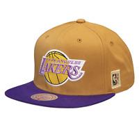 Mitchell & Ness Khaki NBA Los Angeles Lakers Purple Under Classic HWC Snapback