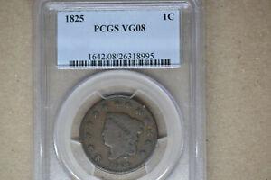 1825 Coronet Head Large Cent- PCGS VG-8.