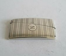 More details for nice,  deco vintage solid silver curved card case.                   birm. 1930.