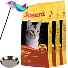 3 x 10 kg Josera JosiCat Rind + Napf + Spielstab