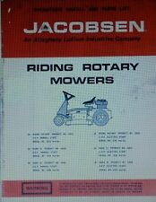 Jacobsen Lawn Riding Mower Tractor Owners & Parts Manual 24p 42641,43043 MarkIII
