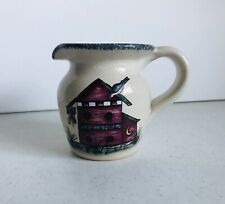 Home & Garden Party Stoneware Birdhouse Feed Store Creamer 2000 USA unused Nice!
