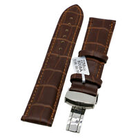 18/20/22mm Genuine Leather Strap Wrist Watch Band Replacement + 2 Spring Bars