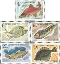 Unión Soviética 5294-5298 (edición completa) usado 1983 Peces de Alimentos