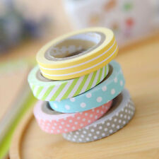 5pcs/lot Cute Kawaii Candy Color Washi Tape Decorative Sticker Dot Stripe