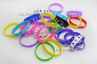 Wholesale Lots 10pcs Mens Woman Rubber Peace star Bracelet  Silicone wristbands