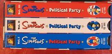 The Simpsons Political Party Box Set (VHS, 2000, 3-Tape Set)