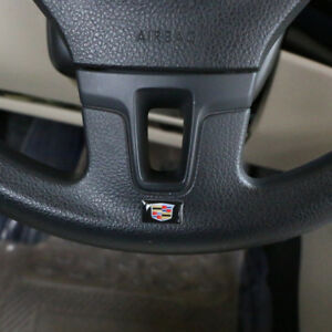 4Pcs Car Steering wheel Sticker Emblem Badge Logo Interior Fits for Cadillac