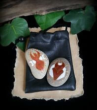 Hand Painted Witches Altar God & Goddess Amulet Stones Pagan Wiccan Talisman