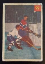1954-55 Parkhurst Hockey #99 Placid Plante Foils Tireless Tender Jacques Plante