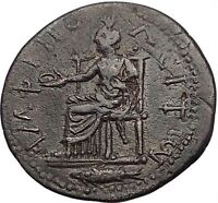 COMMODUS 177AD Amphipolis in Macedonia Tyche Fish Rare Ancient Roman Coin i55622