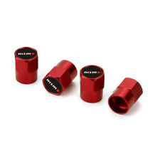 4x Red Car Airtight Wheel Tire Air Valve Caps Stem Cover Nismo Emblem for Nissan