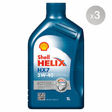 Shell Helix HX7 ECT 5w-40 C3 Semi-Synthetic Engine Oil - 3 x 1 Litres 3L