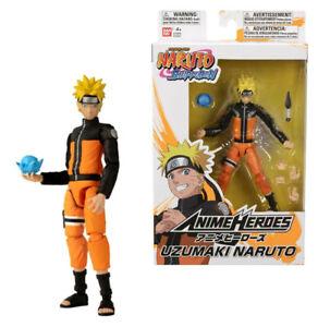 """Bandai Anime Heroes Naruto Shippuden Uzumaki Naruto 6"""" Action Figure"""