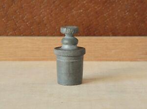 Antique Pewter Pistol Gun Case Oil Bottle Shooting Gunsmith Colt Powder Flask