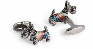 Paul Smith Cufflinks - BNWT Artist Stripe Dog in SweaterCufflinks RRP: £100