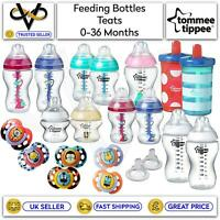 Tommee Tippee Anti-Colic Bottles Soothers Slow Release Teats BPA Free 0-36M
