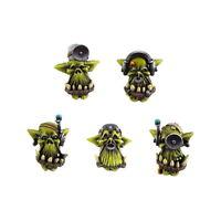 Ork War2 Painboy Heads Orc Doctor Heads (10) Bitz Kromlech