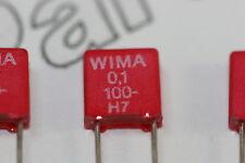 5x 0.1uF 100V Wima MKS2 Metallized Poly Film Capacitor Radial 5mm