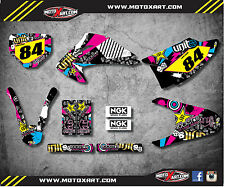Honda CRF 150 F 2003 - 2007 Custom Graphic kit RUSH style decals / stickers