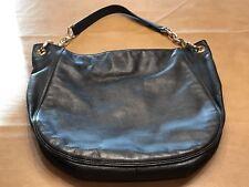Michael Kors Black shoulder bag purse with gold chain accents