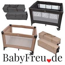 Reisebett Laufstall Tasche Reisebetteinhang Kinderbett Matratze Schwarz Babybett