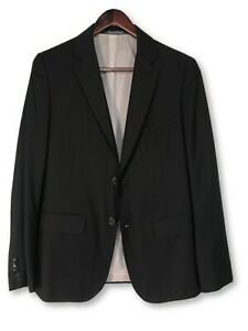 Band Of Outsiders Black Three Piece Martin Greenfield Wool Slim Fit Suit Size 1