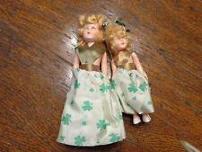 Vintage 2 Hard Plastic St Patrick Patty'S Day Dolls Dress Me Exc Shape