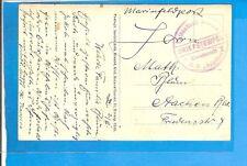 """Schiffspost 1916, 2 versch. Marinefeldpost-AK """"Kommando SMS Augsburg"""" je m. Brie"""