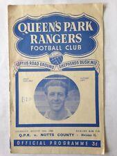 1950/1 QUEENS PARK RANGERS V NOTTS COUNTY (DIV 2)