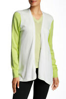 Ted Baker Lyndzie Women's Open Front Cotton Cardigan White Green Size 3 / US 8 M