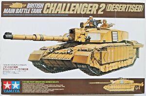 Model Kit - TAMIYA 1:35 British Main Battle Tank Challenger 2 Desertised Unused
